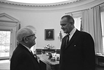 Jim Novy and President Johnson