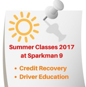 Summer 2017 at Sparkman 9!!