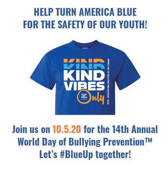 October 5th is World Anti-Bullying Day - WEAR BLUE