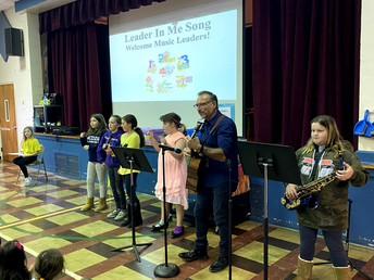 Our Music Leaders led the school leadership song at Thursday's Leadership Assembly.