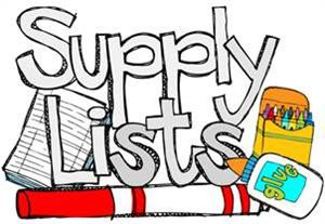 2018-2019 School Supply Lists