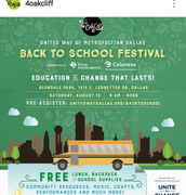 For Oak Cliff Back to School Community Festival of August 2016