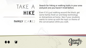 CHARACTER STRONG: Family Dare: Take A Hike