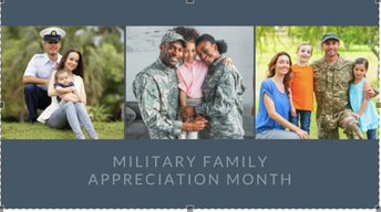 Veterans & Military Families Month