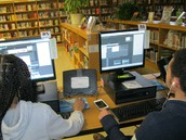 Students learn to design a Screenprint using Photoshop and Publisher