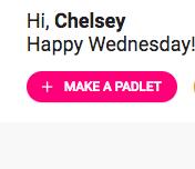 Make a new padlet