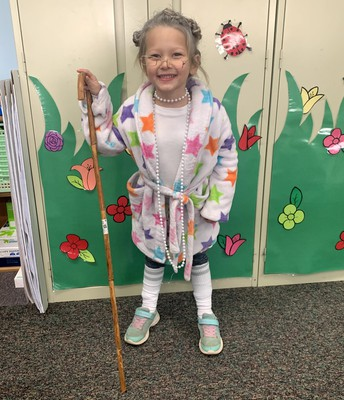 Dylan is ready to roll with her cane!