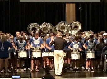 Blue Brigade's Drum Line