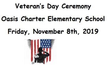 Leadership Club is Hosting a Veteran's Day Ceremony