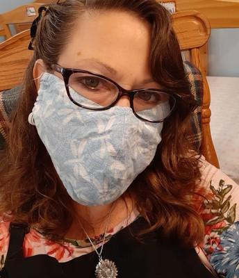 Ms. Cheryl sporting her mask!!