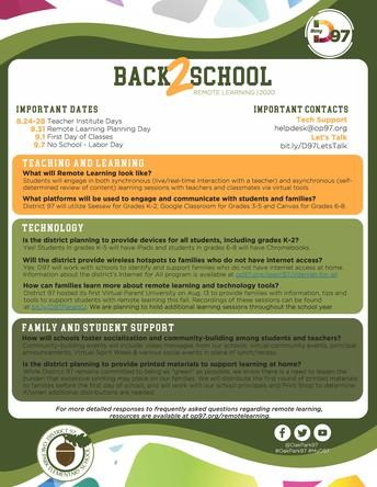 Back to School Fact Sheet