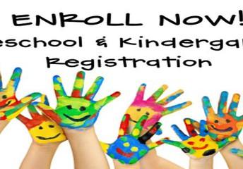 PreK & Kindergarten Registration 2021-22