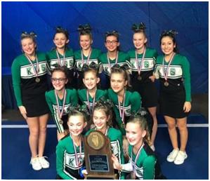 Cheerleaders Win IESA State Championship