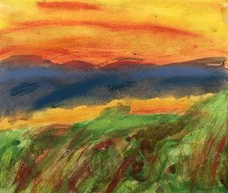 Chalk Pastel Landscape