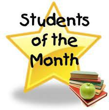 STUDENTS' OF THE MONTH