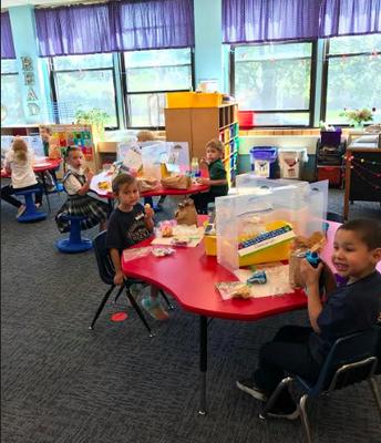 Plastic Barriers in Kindergarten