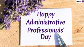 Para Educators' Day & Administrative Professionals' Day