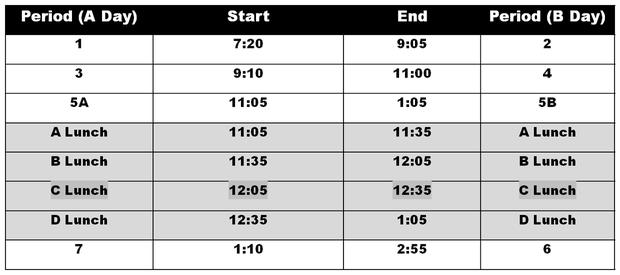 Block Schedule image