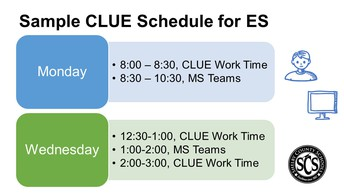 Sample Schedules for CLUE Pull-Out