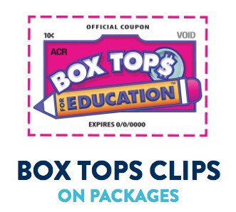 Box tops please, by Friday, October 18