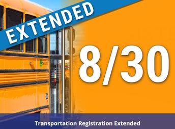 Transportation Registration Extended