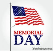 Memorial Day Honored on Monday, May 29