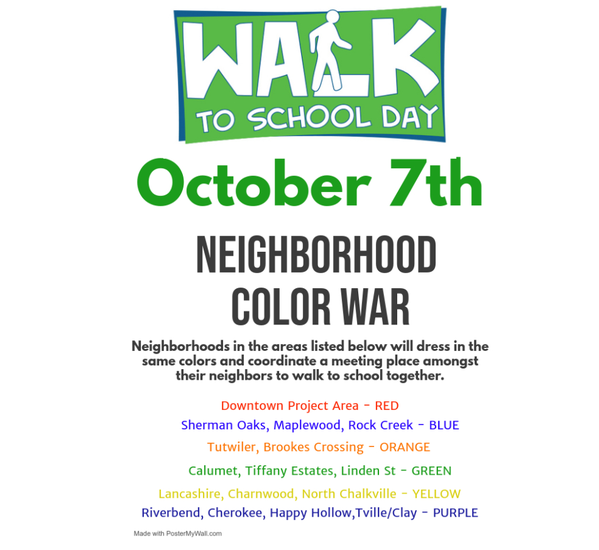 walk to school flyer - details in paragraph below