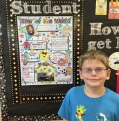 Caleb is this week's Star Student!