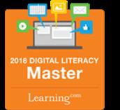 Alexander Elementary teacher Adrian Szarowicz received the Digital Literacy Master Award from Learning.com.