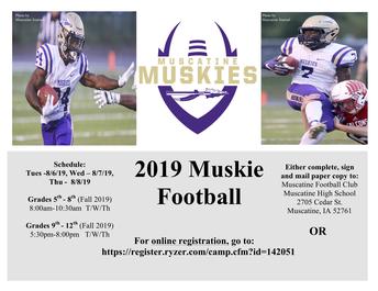 2019 Muskie Football Camp
