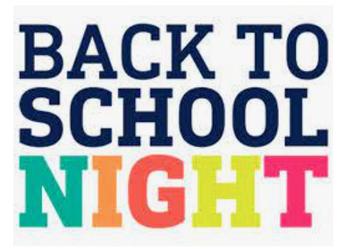 Back to School Night  - Next Week!  Thursday, 10/8 (Virtual)