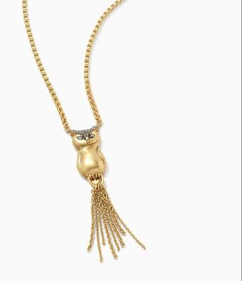 Pavé Owl Pendant