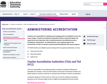 Administering Accreditation NESA: Information for Principals and their Delegates
