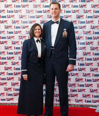 Major Christopher Cagle and Major Alison Frieman, United States Air Force