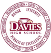 Davies High School logo,  Honor, Integrity and Pursuit of Excellence