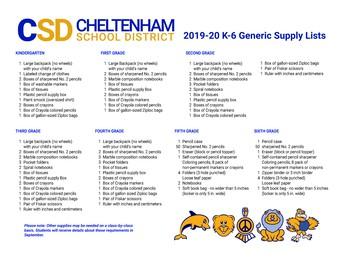 Generic Supply Lists