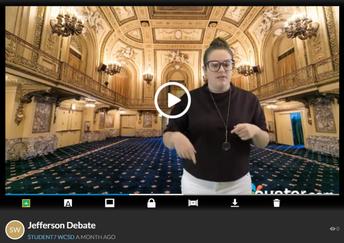 Digital Debates with Green Screen