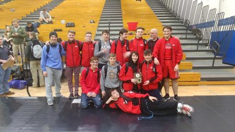 Wrestling team took 3rd place overall