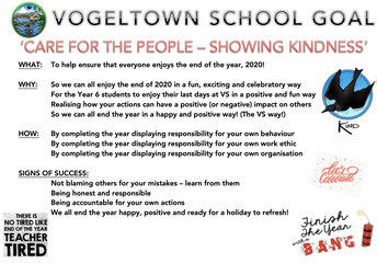 SCHOOL GOAL: 'CARE FOR THE PEOPLE, SHOWING KINDNESS'