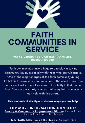 Faith Communities In Service - Ways Faith Organizations Can Help Families During COVID.