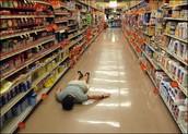 Fui al supermercado y compré la comida