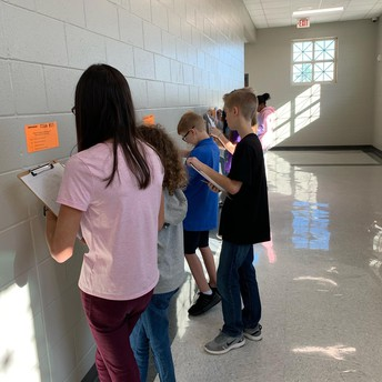 Students were math detectives.