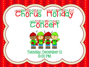 Chorus Holiday Concert