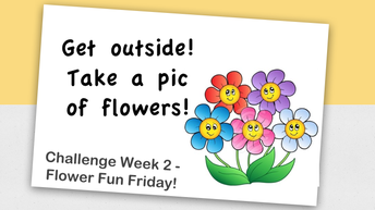 Send us a pic of flowers - and YOU!