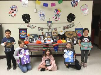 Dia De Los Muertos Display and Artwork
