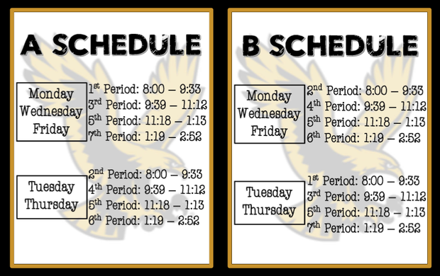 Purpose for our A and B Schedule