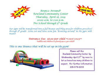 Bounce Around @ Rowland Community Center