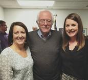 VTSCA hanging with Senator Sanders