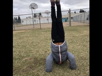 Handstands at recess!