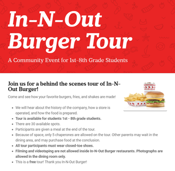 In-N-Out Burger Tour